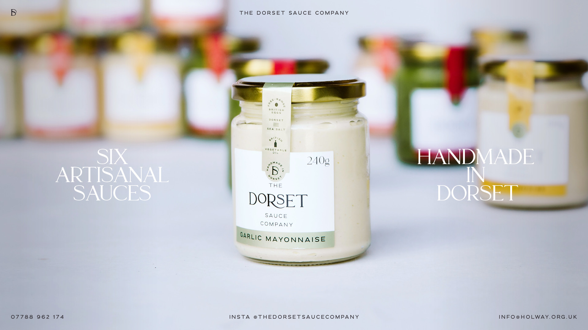 Jar of The Dorset Sauce Company - Garlic Mayonnaise
