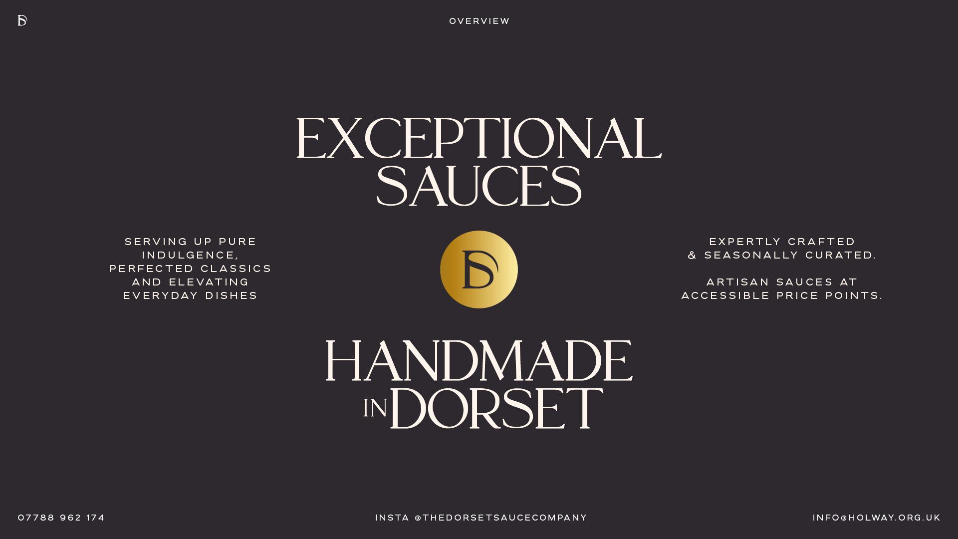 Exceptional Sauces, handmade in Dorset.